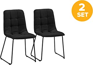 DIVANO ROMA FURNITURE Set of 2 Dining Room Chairs, Linen...