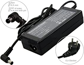 90W Alimentador Cargador Notebook AC Power compatible con Sony Vaio VGN-N31S/W VGN-N31Z VGN-N31ZR/W VGN-N38E/W VGN-N38L VGN-N38M/W VGN-N38Z/W VGN-NR VGN-NR10E/S VGN-NR10M, con eurocable