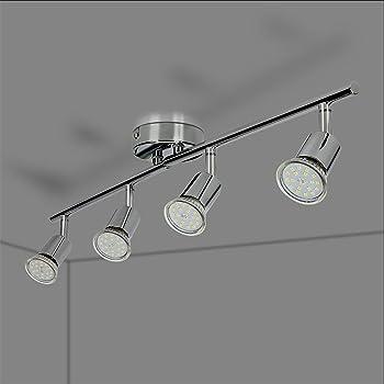 2er 4er GU10 LED Deckenleuchte Deckenstrahler Deckenlampe Deckenspot Wohnzimmer
