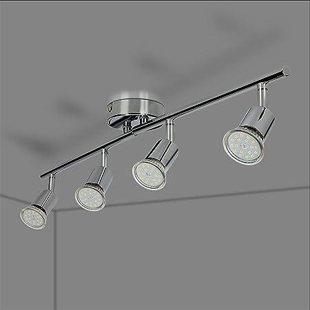LED Deckenleuchte GU10 Strahler Küchen Deckenlampe 4-Flammig Deckenstrahler