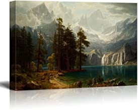wall26 Sierra Nevada in California by Albert Bierstadt Giclee Canvas Prints Wrapped Gallery Wall Art, Stretched & Framed Ready to Hang 24