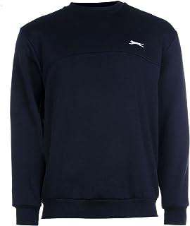 Slazenger Mens SL Fleece Crew Sweater Jumper Pullover Long