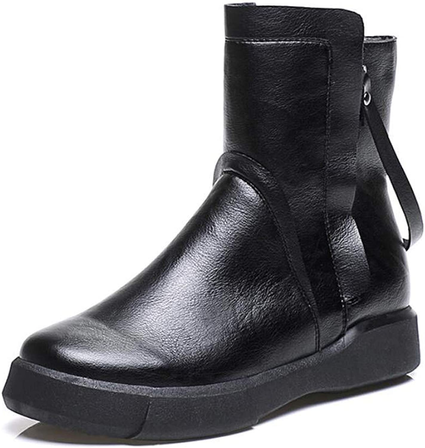 Womens Boots shoes Autumn Flat Heel British Style Casual Retro Boots