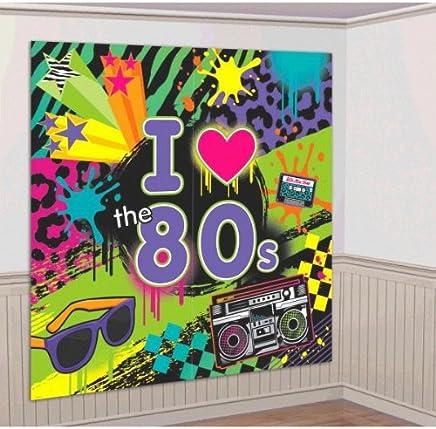 amscan Décoration Murale Années 80