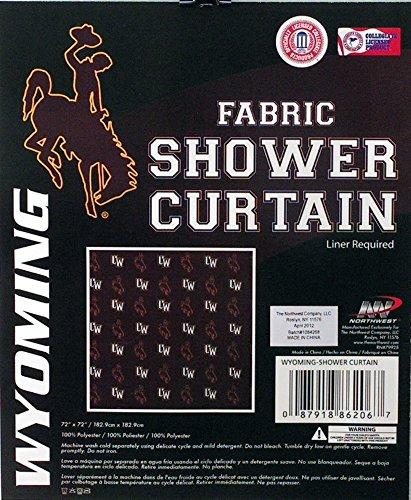 Northwest University of Wyoming Cowboys NCAA Licensed Fabric Shower Curtain (72x72)