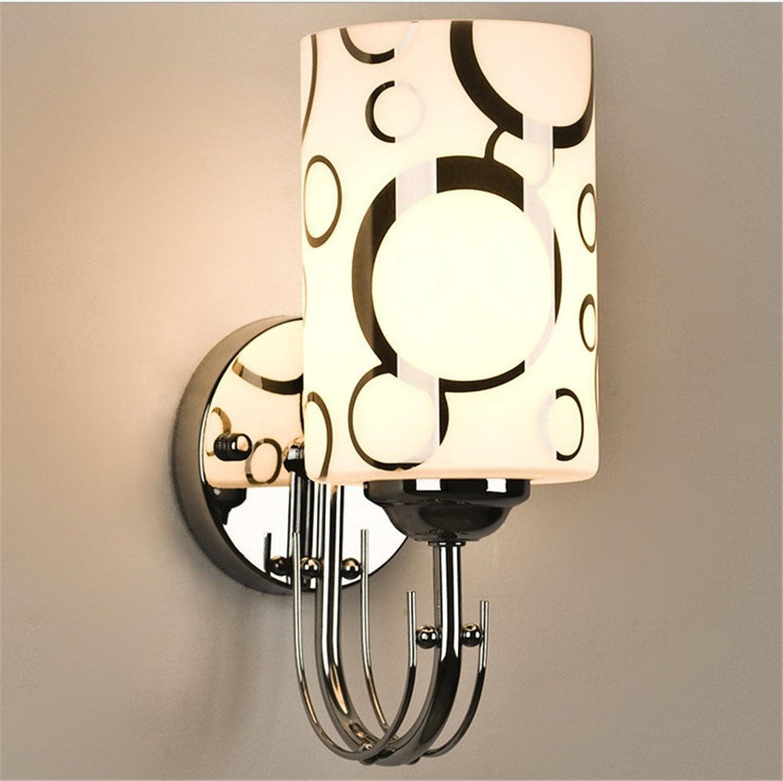Wandbeleuchtung,Wandleuchte Schlafzimmer Wand Lampe Single Head Wandleuchte Einfache moderne runde Bett Wandleuchte, 150mm100mm Led