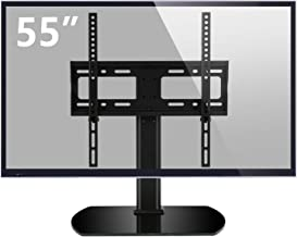 Rfiver Universal Swivel Tabletop TV Stand with Mount for 27 32 37 40 42 43 47 50 55 inch LED,LCD and Plasma Flat Screen TVs with Height Adjustment VESA 400x400mm, UT2002
