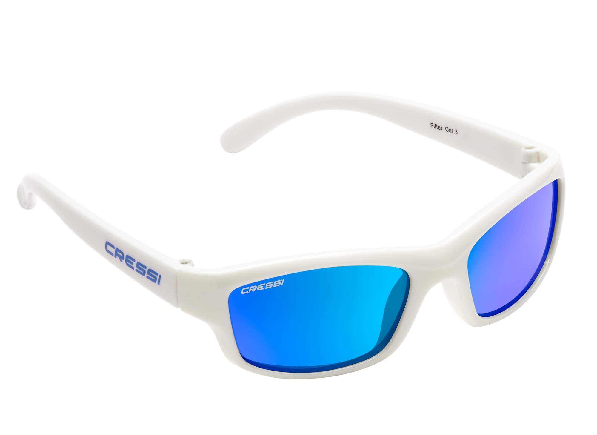 Cressi Kids Cool Sporty Sunglasses Anti-UV Polarized Lenses for 2 to 15 Years Old | Maka & Yogi