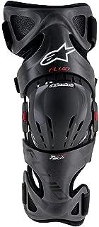 Alpinestars Unisex-Adult Fluid Tech Carbon Knee Brace Set (Black/Red/White, Small/Large)