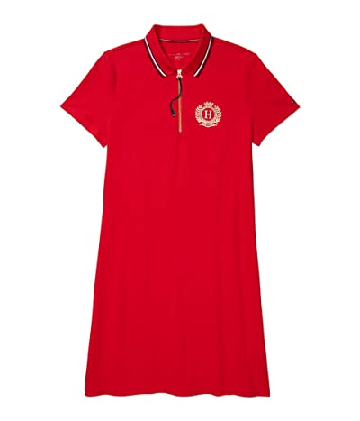 Tommy Hilfiger Adaptive Polo Dress with Extended Zipper Pull