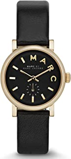Marc by Marc Jacobs Baker Mini Women's Black Dial Leather Band Watch - MBM1331