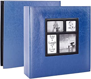 Lanpn Photo Album 4x6 600 Photos, Extra Large Capacity Leather Cover Picture Photo Albums Holds 600 Pockets Horizontal and...