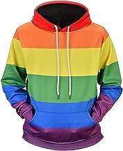 URVIP Mens Womens Unisex 3D Printed Galaxy Pattern Plus Size Hoodied Sweatshirt