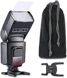 QYRL Flash Speedlight 2.4G TTL HSS Li-Ion Round Head On-Camera Flash for Canon Nikon Sony Fujifilm Olympus Panasonic Pentax Cameras Gift Kit