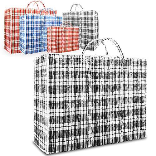 Fusion 5 x REUSABLE LAUNDRY STORAGE BAG SHOPPING BAGS ZIPPED STRONG JUMBO LARGE LAUNDRY BAG (TM) (Jumbo)