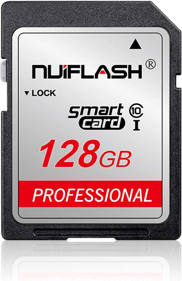 128GB SD Card 128GB SD Memory Card Class 10 High Speed Compatible Computer Cameras and Camcorders, Camera Memory Card,Works with Any Product with Card (128GB)