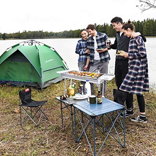 61Rt1VUll7L - Barbecue Holzkohlegrill Edelstahlgrill Heimgrill Grillzubehör Für Den Außenbereich Geeignet Für 5-8 Personen (Color : Silver, Size : 73 * 32.5 * 70cm)