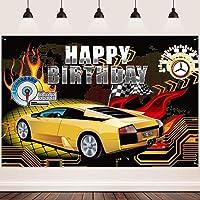 HD車のテーマの背景フラグダッシュボード写真用の火の背景10x7ft男の子の誕生日のテーマパーティーの背景壁紙写真ブースの小道具BJLHFH252