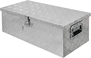 ECD Germany Caja de herramientas de aluminio - 76,5 cm x 33,