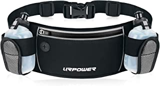 URPOWER Running Belt, 6.5 inches Large Pocket Waist Pack Hands-Free Workout Fanny Pack Running Phone Holder with Adjustable Straps & Reflector Men and Women Running Pouch Belt for iPhone XS/XR, HUAWEI