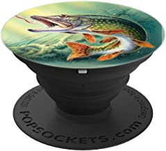 Northern Pike, Muskie, Trophy Fish Fishing - PopSockets Grip and Stand for Phones and Tablets