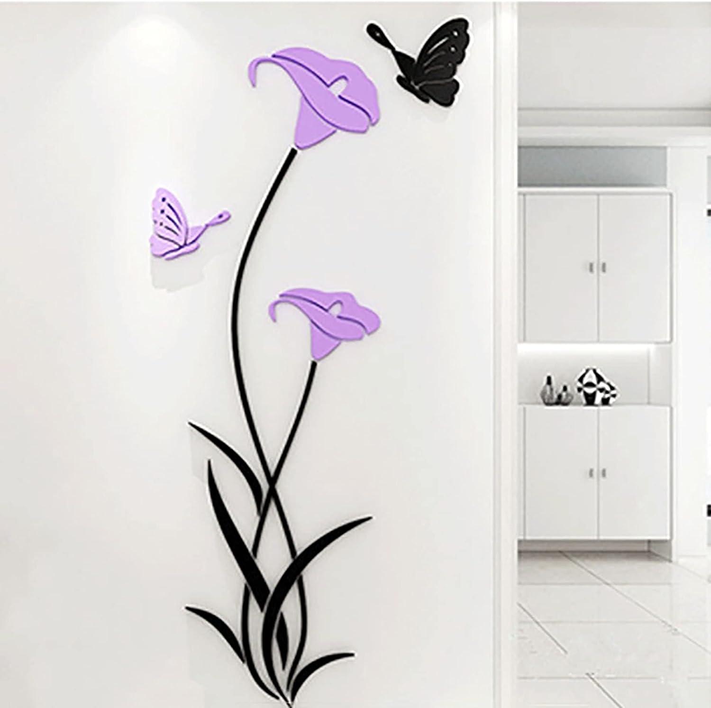 XJDZ Lily New York Mall Wall Sticker Right Ro Side trend rank Acrylic Study 3D