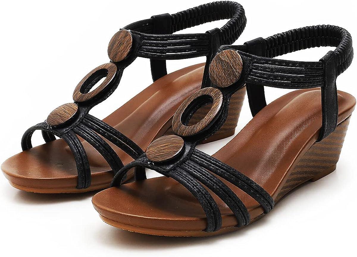 FRALOSHA High material Women Roman Wedge Sandals Open High order Platform Sanda Comfy Toe