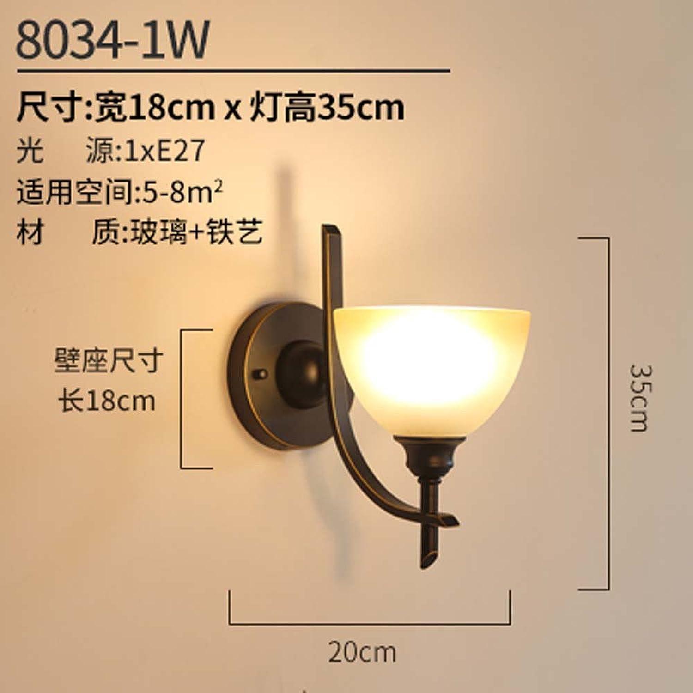StiefelU LED Wandleuchte nach oben und unten Wandleuchten Leiter der Doppelbett Schlafzimmer Wohnzimmer Flur Gang eiserne Wand leuchten, 8034-1 W