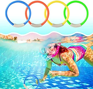 4 قطع ألعاب السباحة حلقات غطس ألعاب تحت الماء لحوض السباحة