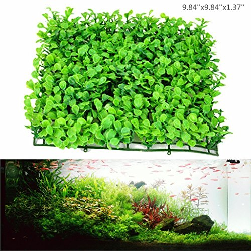 Anleo Artificial Aquarium Ornament Aquatic Grass Lawn Turf/Underwater Plastic Green Plant for Home Office Saltwater Freshwater Tropical Fish Tank Decorations