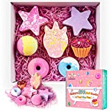 Bath Bombs Unicorns Gifts for Girls 7PCS Bath Bomb Gift Set with Natural Essential Oils Great Birthday Gift for Kids Girls Women