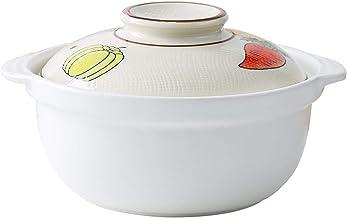 Cooking Stock Pot Japanese deep Pot Ceramic Soup Pot stew Pot Open Flame Suitable for braising Pot (Color : Multi-colored,...