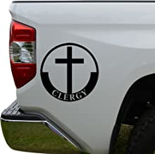 Rosie Decals Christian Clergy Church Die Cut Vinyl Decal Sticker For Car Truck Motorcycle Window Bumper Wall Decor Size- [6 inch/15 cm] Tall/Color- Matte White