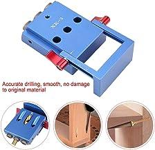 Pocket Hole Jig Kit, Pocket Hole Jig System Drill Guide para Falegnameria Aleación de Aluminio Falegname Posicionador Herramienta 3.9 * 2.7 * 1.5in