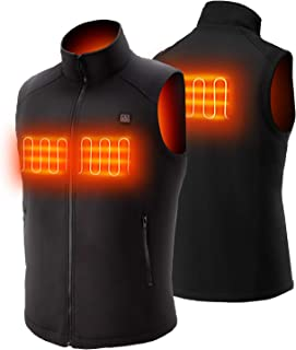 Sunbond Heated Vest Electric Warm Vest, Outdoor Heating Clothing Heated Vest for Men with 5V 7500mAh Battery Pack