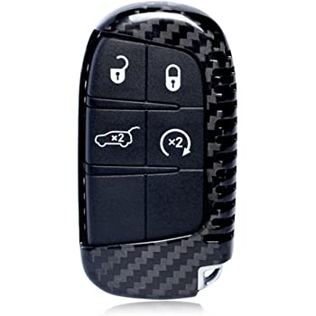 Mens Car Key Fob Case Womens Fob Cover 100/% Carbon Fiber Case For Dodge//Jeep Key Fob Black Genuine Carbon Fiber Cover For Jeep Cherokee//Dodge RAM Smart Keyless Fob Remote Key