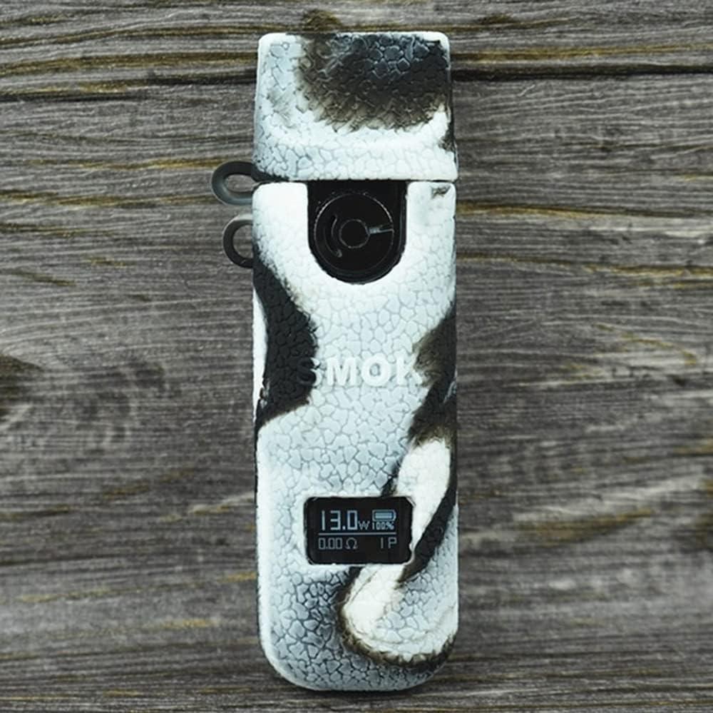 KKmod Protective Silicone Texture Case for Smok Novo 4 Pod Kit Skin Sleeve Cover Shield (Blackwhite)