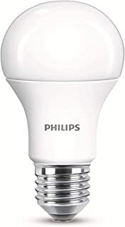 Philips LED E27 Frosted Light Bulbs, 13 W (100 W) - Warm White, Pack of 2