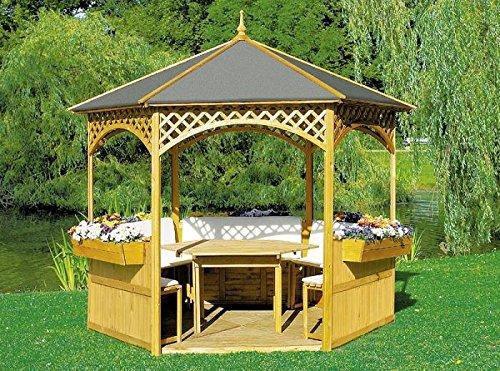 Promadino Set Pavillon Palma mit Dachpappe Komplettset 326x326x280cm 504140
