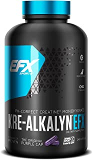 EFX Sports Kre-Alkalyn | PH-Correct Creatine Monohydrate | Multi-Patented Formula, Gain Strength, Build Muscle & Enhance P...
