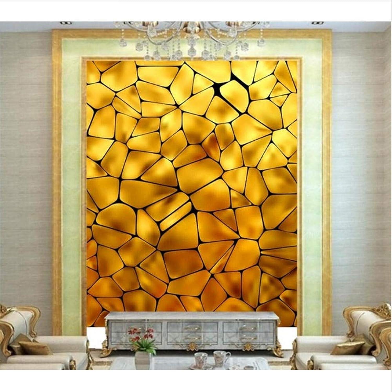 Lvabc Papel Tapiz 3D Personalizado Bloque Amarillo Dorado Con Textura Grande Muralsktv Bar Hotel Sala De Estar Tv Sofá Parojo Dormitorio-200X140Cm