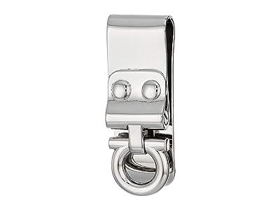 Salvatore Ferragamo Single Gancini Money Clip (Silver) Wallet Handbags