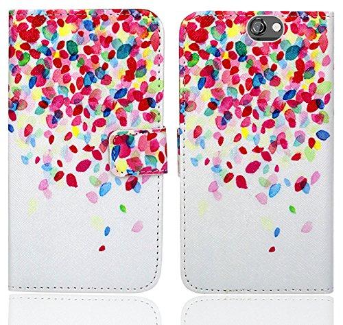 HTC One A9 Handy Tasche, FoneExpert® Wallet Hülle Flip Cover Hüllen Etui Ledertasche Lederhülle Premium Schutzhülle für HTC One A9 (Pattern 1)