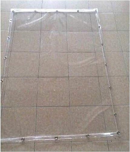 LIAN La bache imperméable Transparente de Plans de bache Couvre la Tente résistante au Vent renforcée résistante Dehors, adaptée, 600G   M2 (Taille   2x4m)