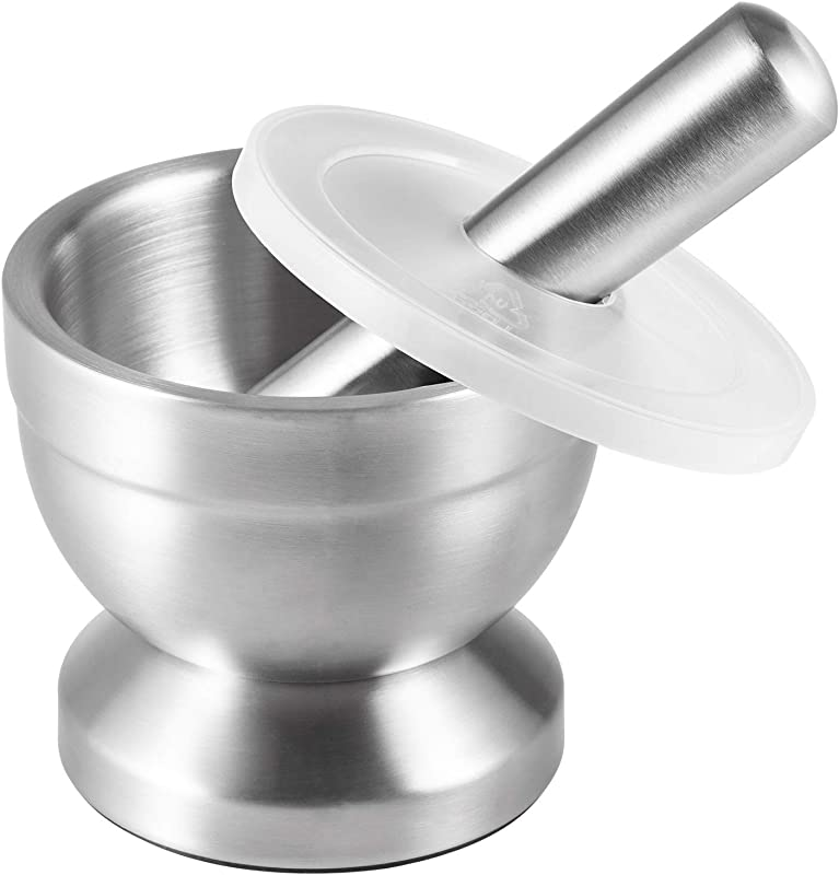 Tera Mortar And Pestle Sets 18 8 Stainless Steel Pill Crusher Food Safe Spice Grinder Herb Bowl Pesto Powder