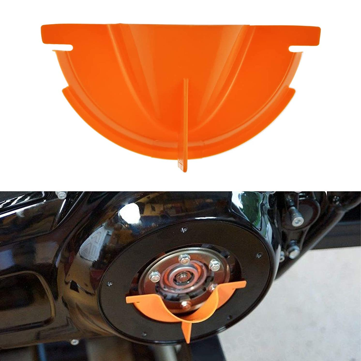 Rebacker Motorcycle Primary Case Plastics Primary Oil Fill Funnel for Harley Touring Trike Models 2006-2017 Dyna 2007-2018 Softail,Orange