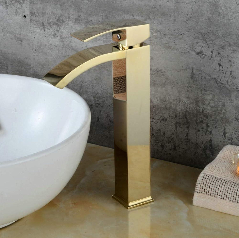 Bathroom Sink Basin Lever Mixer Tap golden Toilet Faucet golden Waterfall Faucet Face Wash Basin Faucet