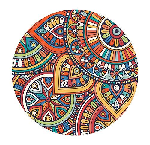 Byx- Yoga meditatiekussen, rond tapijt, salontafel woonkamer persoonlijkheid mode naar huis Scandinavische ronde deken - gebied tapijten
