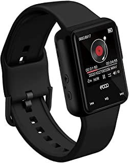 Smart Watch Recorder,eoqo 16GB MP3 Music Player with FM Radio & E-Book,Noise Cancellation Voice Recording,Playback with Bu...