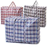 VIROSA Extra VALUE Large Strong and Durable Laundry Bags   PACK of 10   Ideal for Laundry/Moving House/Shopping/Storage   Reusable Store Zip Bag